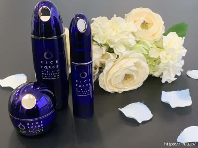 ライスフォースの化粧水、美容液、クリーム